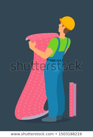 handyman going to stick roll papers Stock photo © photography33