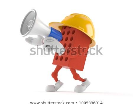 Mason shouting through megaphone Stock photo © photography33