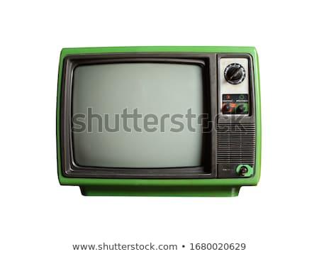Klasszikus tv izolált technológia film képernyő Stock fotó © ozaiachin