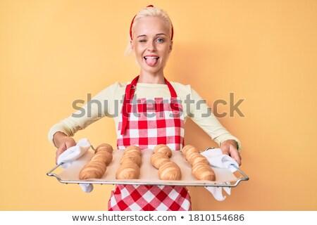 女性 パン パン 笑顔 幸せ 背景 ストックフォト © photography33