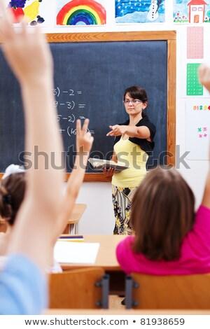 Adolescenti piedi insegnante classe scuola studente Foto d'archivio © photography33