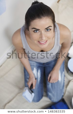 High-angle portrait of a painter Stock photo © photography33