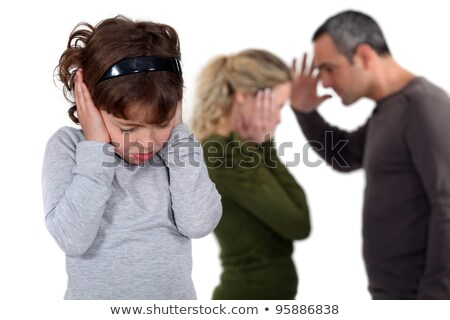 Daughter stood with arguing parents Stock photo © photography33