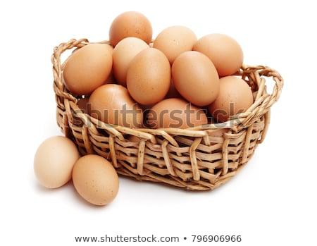 Kosár tojások izolált fehér tavasz pillangó Stock fotó © DeCe