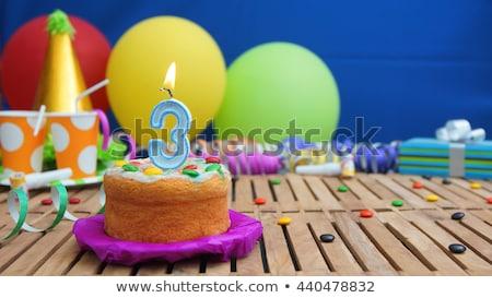 три старые рождения участник свечей шаров Сток-фото © stuartmiles