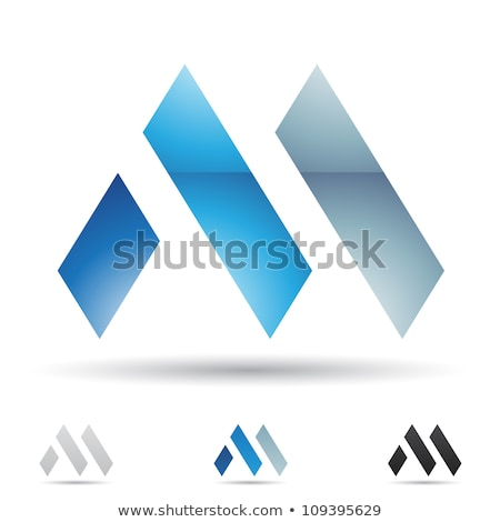 Glossy Icons for letter M stock photo © cidepix