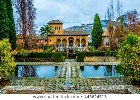 Kadınlar kule alhambra bahçeler Bina beş Stok fotoğraf © aladin66