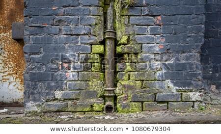 zardzewiałe · mur · budowy · ściany · przemysłowych · rdzy - zdjęcia stock © taigi