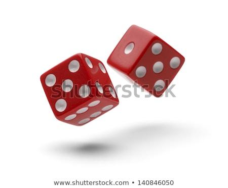 rolling red dice stock photo © 3523studio