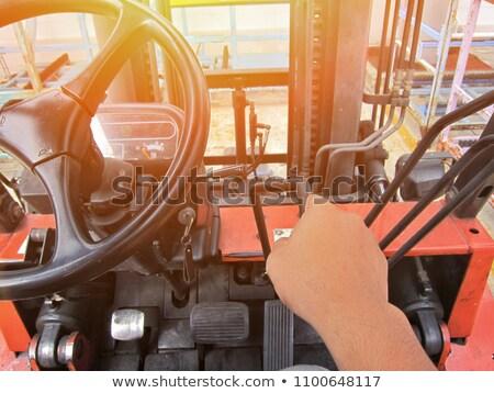 old forklift drivers seat stock photo © bobkeenan