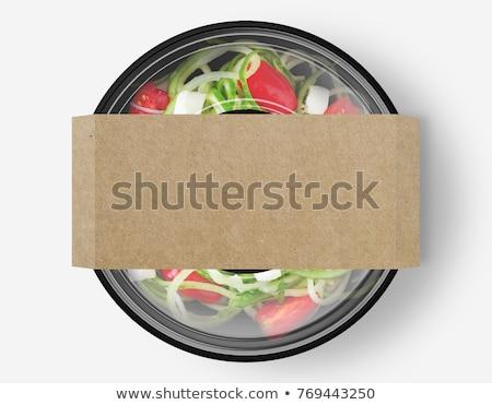 Сток-фото: Салат · окна · продовольствие · школы · таблице · хлеб