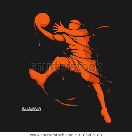 abstract basketball silhouette stock photo © arenacreative