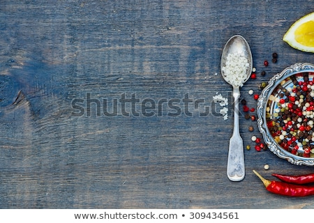 Wooden background with metal insert Stock photo © vlad_star