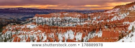 Formations at bryce canyon ampitheater Stock photo © jaymudaliar