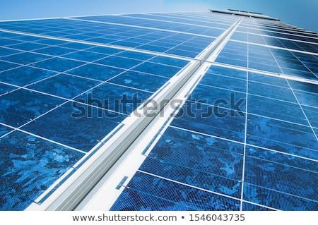 Nap fotovoltaikus panel tömb közelkép mutat Stock fotó © Rob300