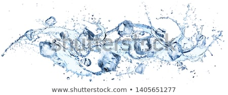 Water with ice cubes Stock photo © karandaev