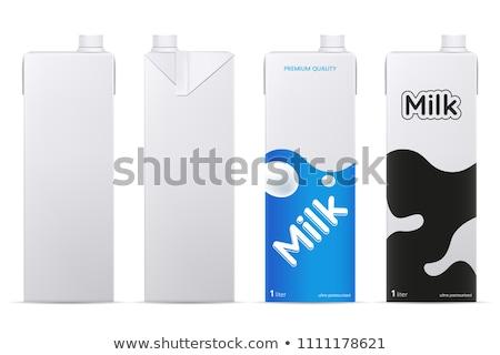 melk · karton · pakket · vector · witte · branding - stockfoto © vectomart