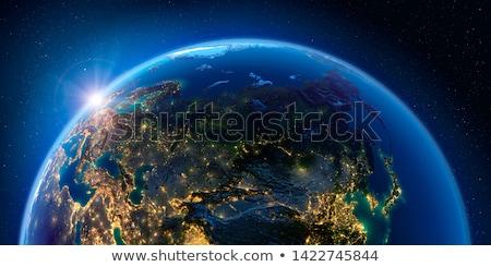 Beleuchtet Welt isoliert weiß Schule Karte Stock foto © gavran333