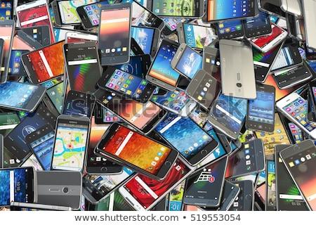 старые используемый телефон белый технологий связи Сток-фото © Grazvydas