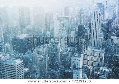 Buildings In Snow Photo stock © Taiga