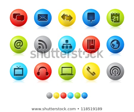 glossy web icons - red series 6 Stock photo © radoma