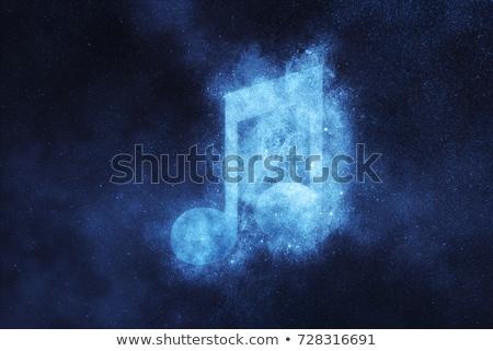 Kék ég zenei hang felirat háttér felhő rajz Stock fotó © zzve