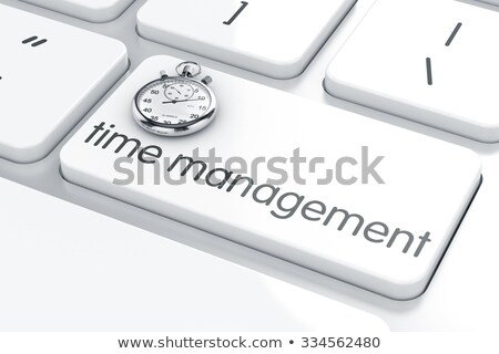 Keyboard with Time Management Button. Stock photo © tashatuvango