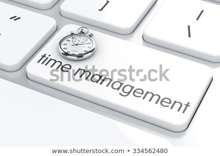 Keyboard with Time Management Button. Stock photo © tashatuvango