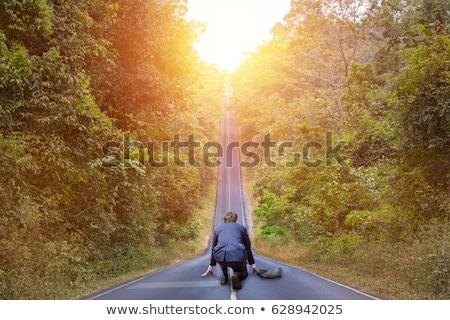 empresário · pronto · começar · carreira · correr · futuro - foto stock © photography33