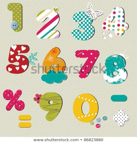 Color garabato Splash alfabeto cartas dígitos Foto stock © adrian_n