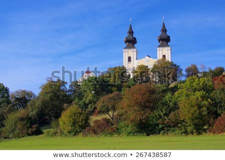 barok · kerk · Oostenrijk · Geel · straat · reizen - stockfoto © lianem