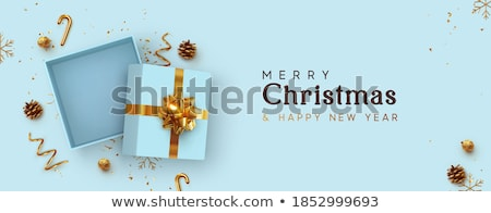 Christmas gift box with blank card Stock photo © Kirill_M