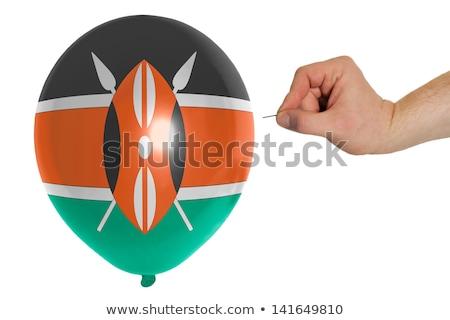 Léggömb színes zászló Kenya politika rombolás Stock fotó © vepar5