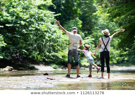 asian family outdoor picnic stock photo © szefei