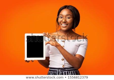 sensual · africano · empresária · negócio · terno - foto stock © dash