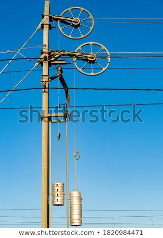 catenary with blue sky Stock photo © meinzahn
