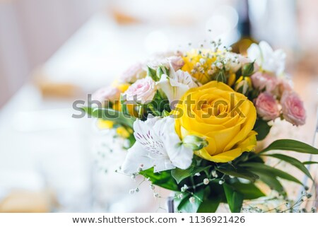 brides yellow roses stock photo © kmwphotography