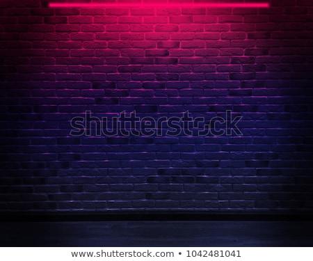 Lâmpada enforcamento parede de tijolos recentemente parede Foto stock © Kuzeytac