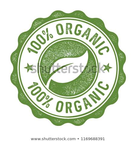 100% Organic label Stock photo © stevanovicigor