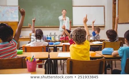 Dziewcząt nauczyciel szkoły klasy dziewczyna dzieci Zdjęcia stock © monkey_business