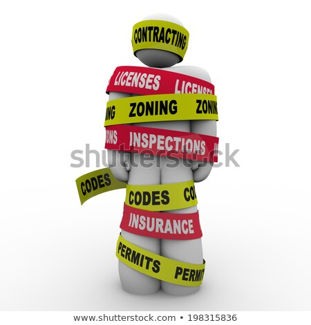 Contracting Licenses Zoning Inspection Codes Builder Wrapped Tie Stock photo © iqoncept