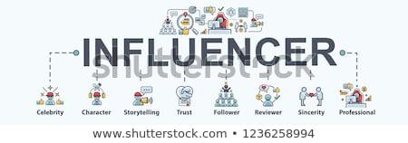 social · autoridade · palavras · internet · sucesso · branco - foto stock © outstyle