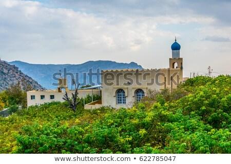 Mezquita meseta imagen paisaje Omán carretera Foto stock © w20er