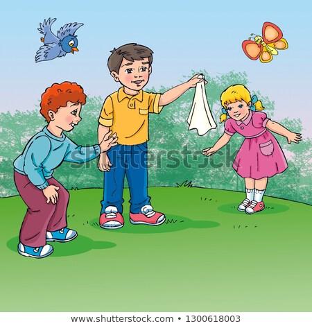 cartoon handkerchief Stock photo © lineartestpilot