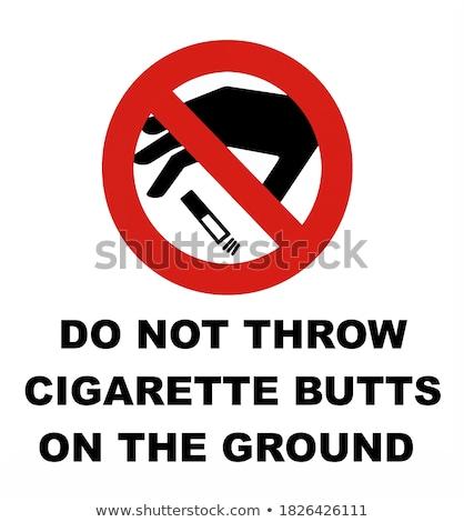 сигарету прикладом иллюстрация дизайна знак курение Сток-фото © pashabo