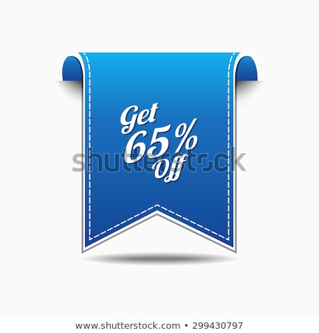 Stock photo: Get 65 Precent Off Blue Vector Icon
