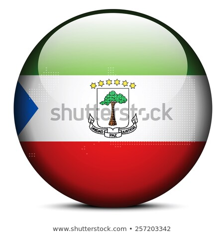 Map with Dot Pattern on flag button of Guinea Republic Stock photo © Istanbul2009