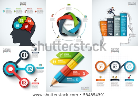 infographic layout for brainstorming concept background with graphs sketches stock photo © davidarts