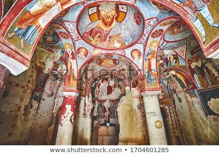 Oude orthodox grot klooster Griekenland muur Stockfoto © ankarb