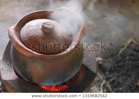 Red Wooden Lid Old Thai Traditional Style Stock photo © art9858